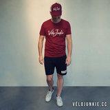Velojunkie T-shirt Burgundy_